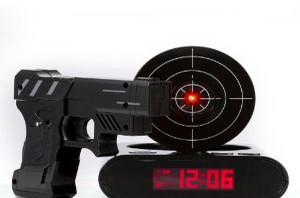 Lock N' load Gun alarm colck